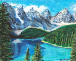 Lake Louise Moutains by ScullyNess