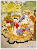 Donald duck and the children by imuya