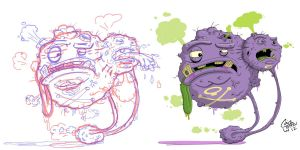 weezing by Junkborgs