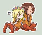 Chibi Ymir and Historia by Fuugis