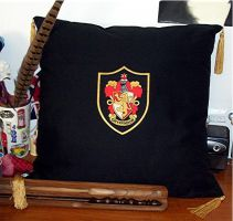 Harry Potter Gryffindor Pillow by Groovygirlsuzy17