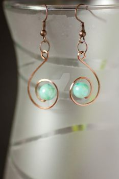 Copper Earrings by firesign24-7