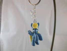 Derpy Custom Cutie Mark Charmed Keychain (front) by DeadHeartMare