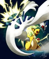 Ampharos used Thunderpunch