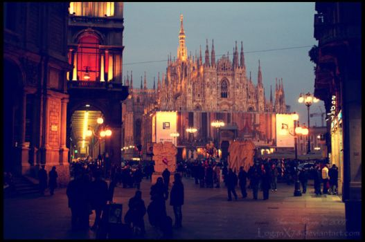 Vintage Postcard from Milan by LoganX78