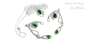 Yavanna - Silver Shades elf ears and pendant by Lyriel-MoonShadow