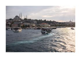 Istanbul through Golden Horn by lightdrafter