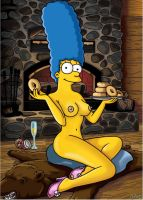 Marge playboy shoot fake 1 by WVS1777
