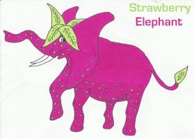 Strawberry Elephant by WhatsInAName99