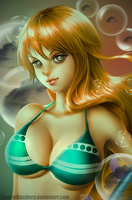 Nami (One Piece) by SweeetRazzbery