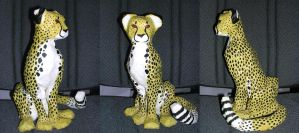 Cheetah - Paper mache by SilverTwilight05