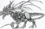 Robot dragon! by Basalisk120