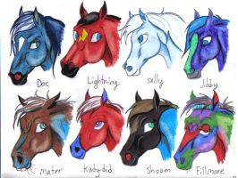 some Cars as horses by pookyhorse