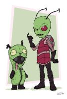 Invader Zim and Grr by RamonVillalobos
