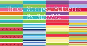 Thick Striped Patterns by RubzZ