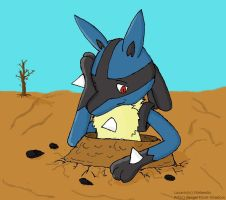 Lucario: Oops, wrong place.... by Fangy-From-Shadow