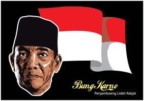 Soekarno, The Indonesian Hero by astayoga