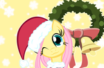 Fluttershy Christmas by camike1234