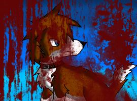 Bloody little dog by RavenThalia