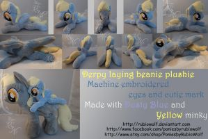 -FOR SALE- MLP Derpy laying beanie plushie by RubioWolf