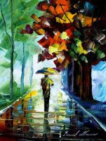 Morning stroll oil painting on canvas by L.Afremov by Leonidafremov