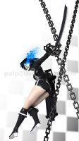 Black Rock Shooter X 3neetee pose 2 by palp