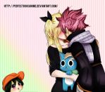 Fairy Tail - Natsu. Happy , Asuka and Lucy by Perfectionxanime