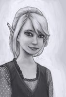 Doodle book #25 grayscale by Elfios