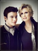Jane Lynch + Chris Colfer by Authentical
