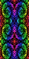 Rainbow Pixel Junk [Deviantart Background] by darkdissolution