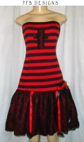 Striped winter dress by funkyfunnybone
