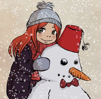 Amy pond in the snow by Dalva