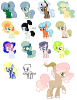 Pony adoptables 9/15 :OPEN: by CandyCornAdopts