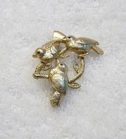 Vintage Three Little Birds Brooch by sevvysgirl