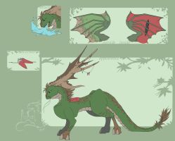 Earth dragon adoptable - 50 points - CLOSED- by Fucal