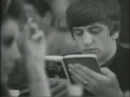 Ringo likes his booooook by Beatles4eveah