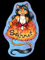 Sekhmet Badge for Mel by Rupee