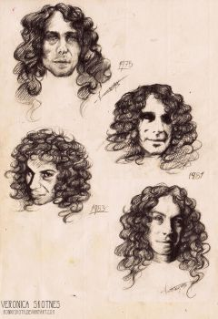 Ronnie James Dio doodles by RonnySkoth