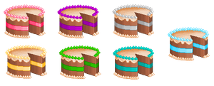 Pixel Cakes by MightOfAMarionette
