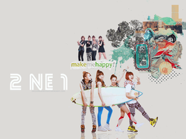 wallpaper feat . 2NE1 by melodyandharmony