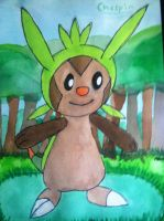 Chespin Watercolor by Brawl483