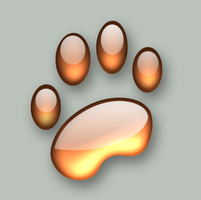 Paw Print by Zimed