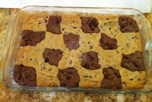 Checker brownie and cookies by LuffyNoTomo