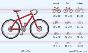 Bike Icon by sport-icons