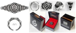 The World of Warcraft Faction Ring ( Horde ) by PINGMINGSWOOD