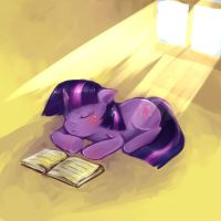 Sleeping Twilight by cr-applesauce
