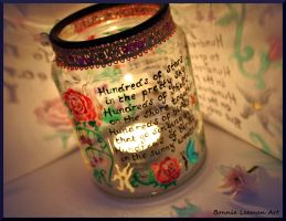 Hundreds of Stars Candle by Bonniemarie