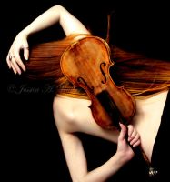 Red Violin by PorcelainPoet