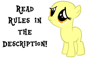 Base #2 - Sad Filly by Cuppa003
