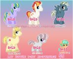 MLP STALLION MIX ADOPTABLES :SOLD OUT: by DisfiguredStick